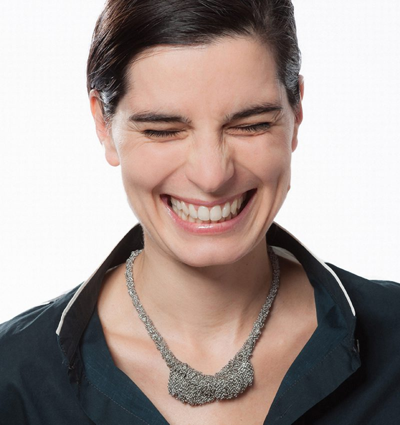 Dorothea Brill, Kette «Meterweise / Dana», Silber rhodiniert