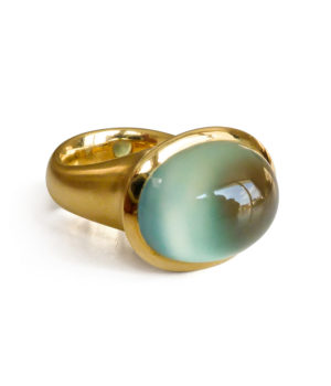 Galerie Spandow, Ring «Cabo», Gelbgold, Prehnit