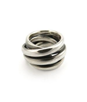 Mike Kircher, Ring «smooth», 14-17 mm breit, Silber, geschwärzt