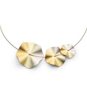 Niessing, Anhänger «Blütenscheibe», Iris, Gold, N213029, Niessing-Schnur