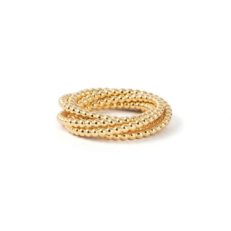 Tanja Friedrichs, Ring «Quiril», mit 5 Ringen, 750/- Gelbgold