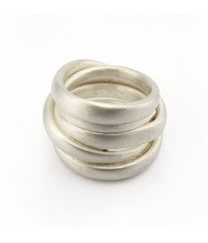 Mike Kircher, Ring «smooth», 17-20 mm breit, Silber