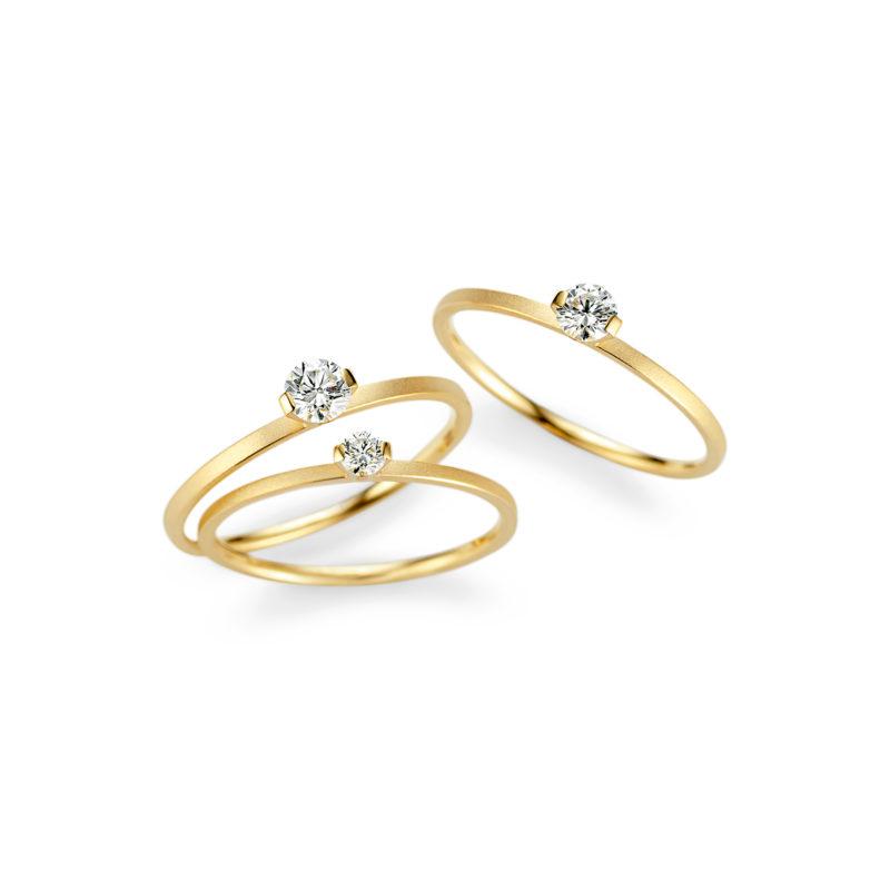 Niessing, Ringe «Princess», N301960, 750/- Gelbgold, Brillant