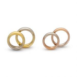 Niessing, Trauringe «Iris + Aura oval», N281093, N261582, Gold