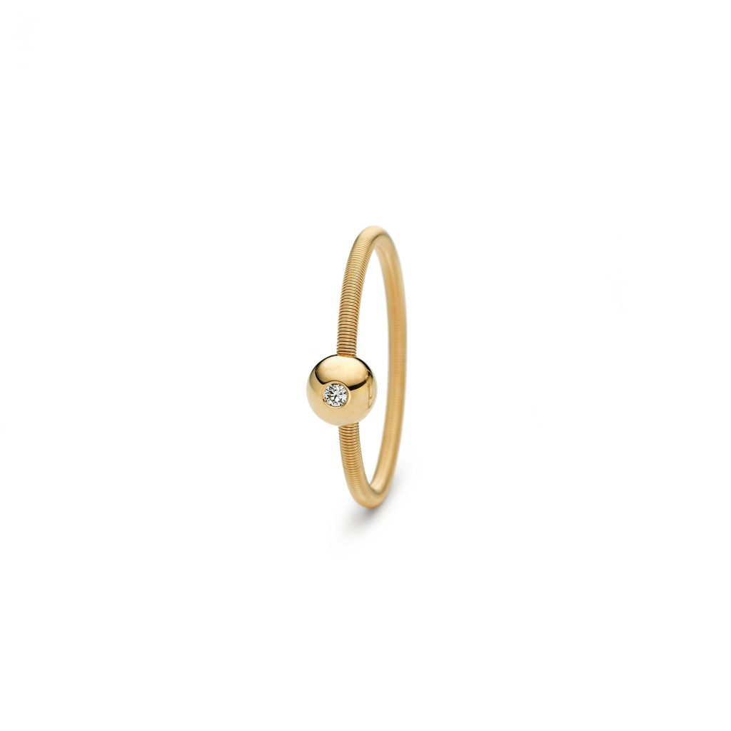 Niessing, Ring Colette, 1-fach, Gelbgold, Brillant, N281521