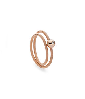 Niessing, Ring Colette, 2-fach, Rotgold, Brillant, N281521