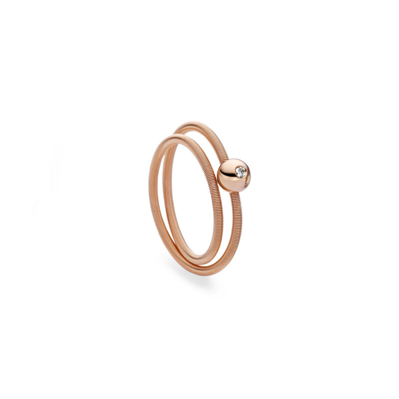 Niessing, Ring Colette, 2-fach, Rotgold, Brillant, N281522
