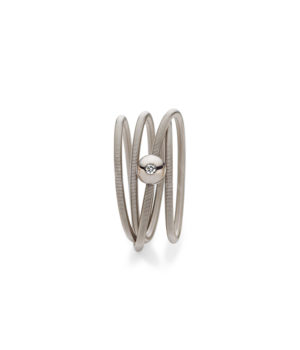 Niessing, Ring Colette, 4-fach, Graugold, Brillant, N281524