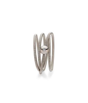Niessing, Ring Colette, 4-fach, Graugold, Brillant, N281524