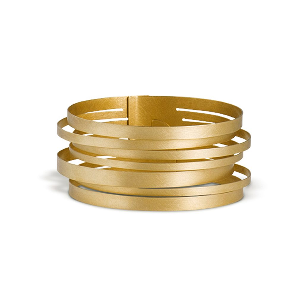 Claudia Hoppe, Armreif «Stripes geringelt», 32 mm, Gold
