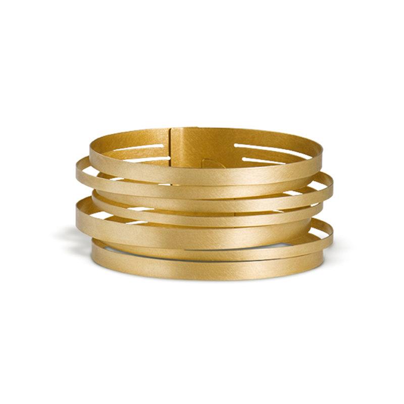 Claudia Hoppe, Armreif «Stripes geringelt», 32 mm, Gold