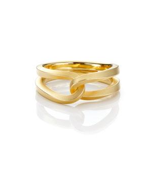 Oliver Schmidt, Ring / Trauring «Schlaufen SLO110 / 2,5», 750/- Gelbgold