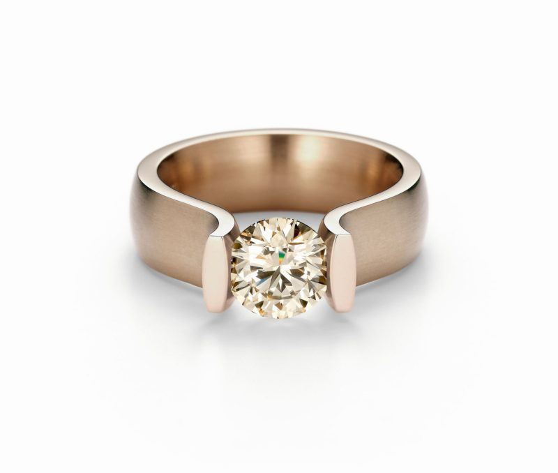 Niessing, Spannring Lucia, Rosewood Gold, Brillant, N321921
