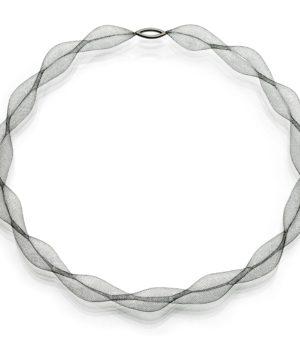 Uli Biskup, Halsschmuck, «Tutu-Welle», Silber, geschwärzt